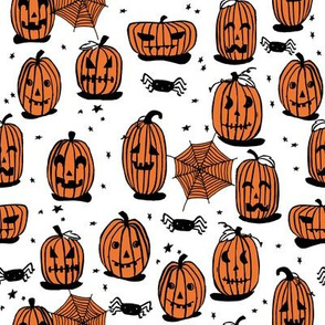 pumpkins // halloween kids cute scary spooky october fall autumn fabric