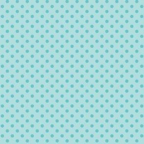 Blue polka dots for cute little teeth