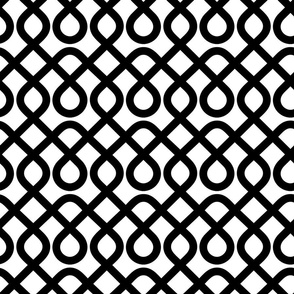 Back and White Geometric Pattern