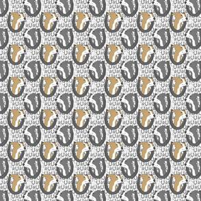 Italian Greyhound horseshoe portraits - small