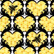 Bee Still My Heart Damask