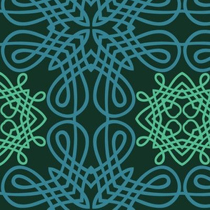 Evergreen Knot Calligraphic Elements