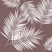 Palm leaves - palm tree tropical fern leaf white on mauve summer || by sunny afternoon