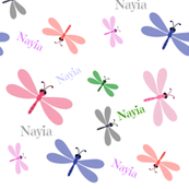 Dragonfly Colorful - XL Personalized all over  NAIYA