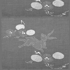 woodland hare - gray/white