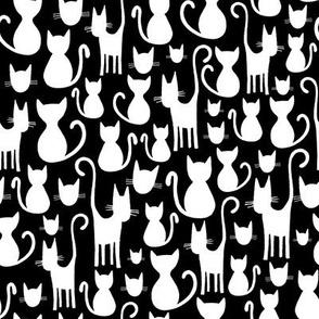 Halloween Cats on Black