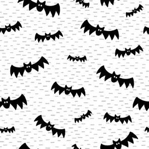 Halloween Bats on White