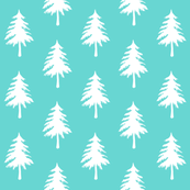 EVERGREEN tree - light teal