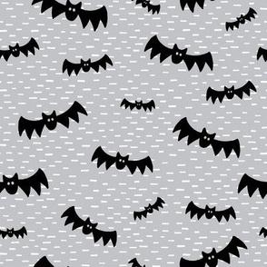 Halloween Bats on Grey