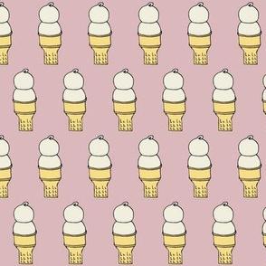 Soft serve Ice cream on pink