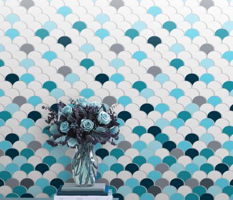 Scales &Gradient Wallpaper (Aqua)