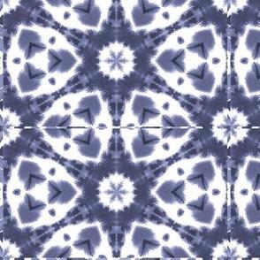 Watercolor Shibori Slate Blue
