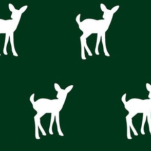 fawn - forest green || holiday