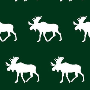 moose - forest green || holiday