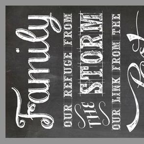 family tea towel or panel