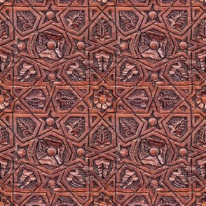 moorish style carved ceiling