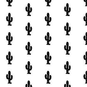 Monochrome Desert Cactus