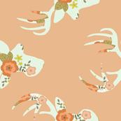 Minty floral deer 2