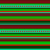 Bella Nina 9 -  Variegated Stripe in green and rust - horizontal,  crosswise stripe
