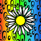 2x2 Phish bubbles Rainbow red to blue2 Background Flower