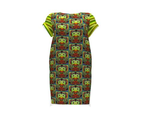 Bella Nina 5 - Horizontal Variegated Pinstripe in Green, Yellow and Brown