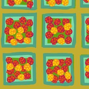 summer raspberry mix on yarrow