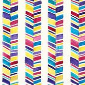 Chevron Stripes Watercolor