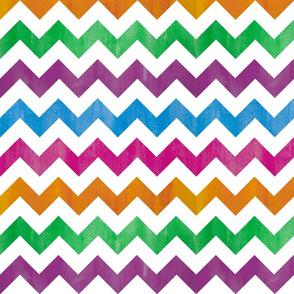 watercolor chevron - brights