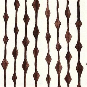 Diamond Stripes Watercolor