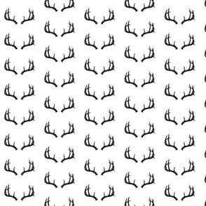 Deer Antlers in Black and White Mini