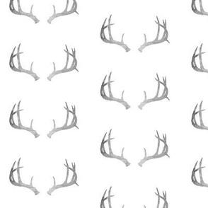Deer Antlers in Gray Texture Mini