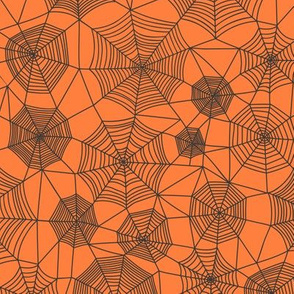 Spider web Halloween Fabric Spiderwebs Black on
