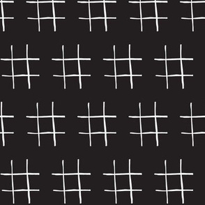 black and white tic tac toe