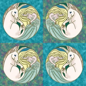 Surf and Turf Unicorn and Mermaid Yin Yang