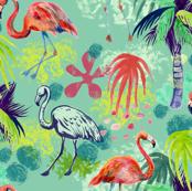 Vintage Flamingo Teal