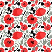 Modern Poppies