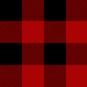 Buffalo Check in Red and Black