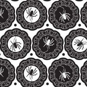 Halloween Spiders Delight White and Black