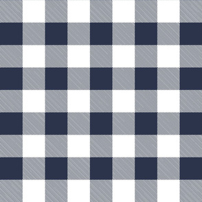Buffalo Check in Navy and White