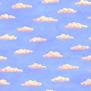 tiny painted clouds - summer colors