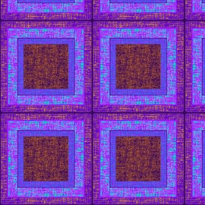 Purple Squares with Faux Gold Threads