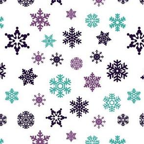 snowflakes || frozen purple