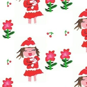 Christmas Girl Duo Flowers