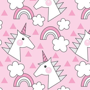 unicorn-head-on-bright-pink