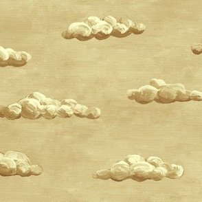 painted clouds - sepia-tone