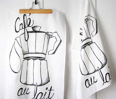 Cafe au lait Tea Towel