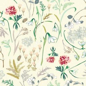 Enchanted Floral (cream)