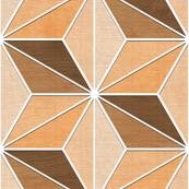 Wooden Asanoha (White)