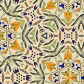 talavera floral hex tiles