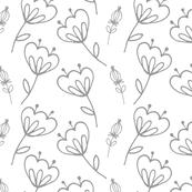 Gray Florals